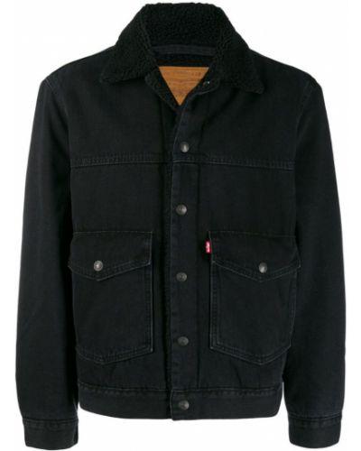 Джинсовая куртка черная на пуговицах Levi's®