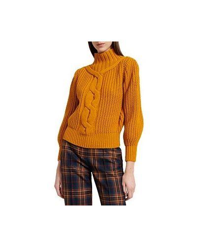 Шерстяной свитер - желтый Luisa Spagnoli