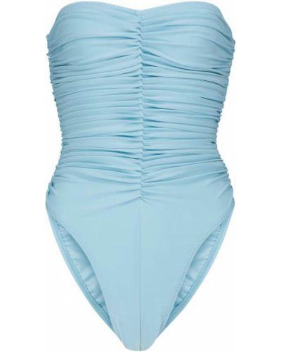 Niebieski strój kąpielowy bandeau Norma Kamali