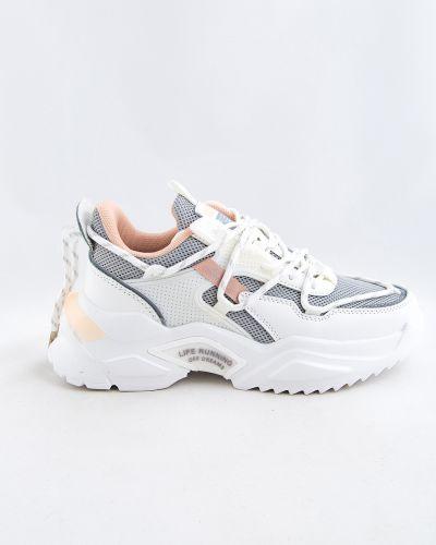 Белые текстильные кроссовки Baas