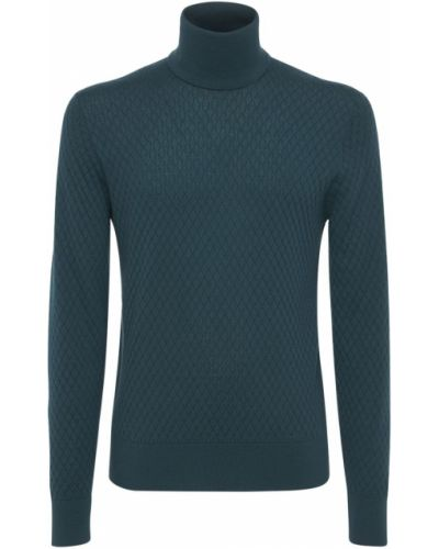 Zielony z kaszmiru sweter Dolce And Gabbana