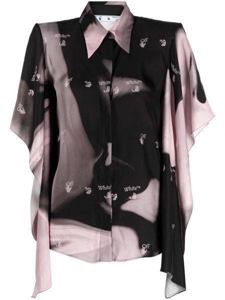 Czarny koszula z wiskozy Off-white