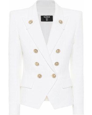 Пиджак твидовый льняной Balmain