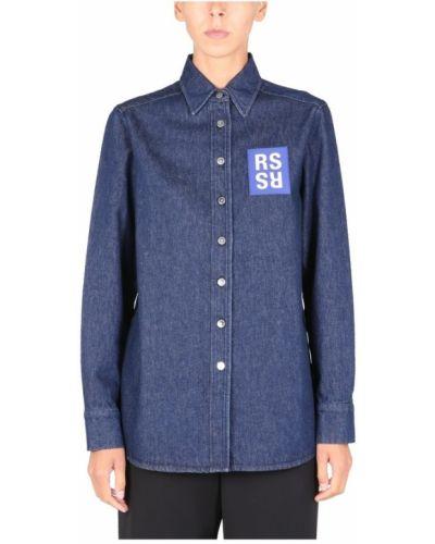Niebieska koszula Raf Simons