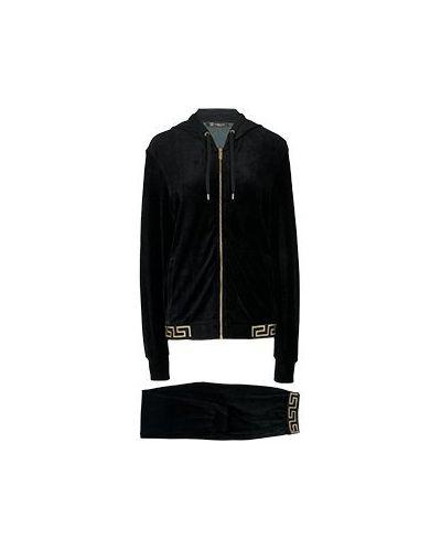 Костюм черный спортивный Versace