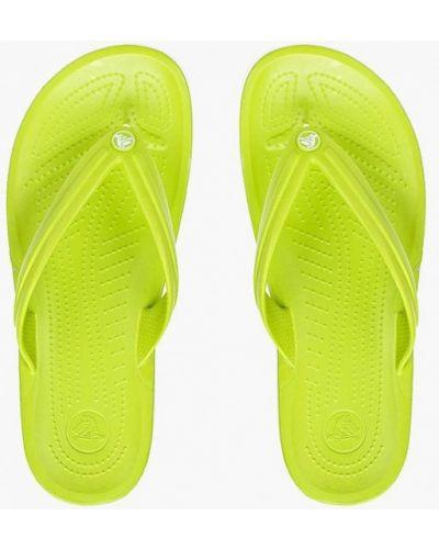 Зеленые сланцы Crocs