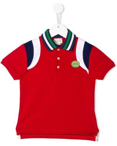 Рубашка красный в рубчик Gucci Kids
