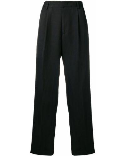 Свободные черные зауженные брюки с поясом бязевые Roberto Cavalli