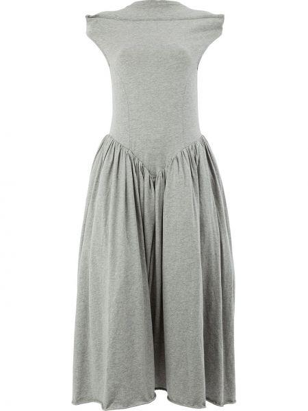 Платье серое с заниженной талией Aalto