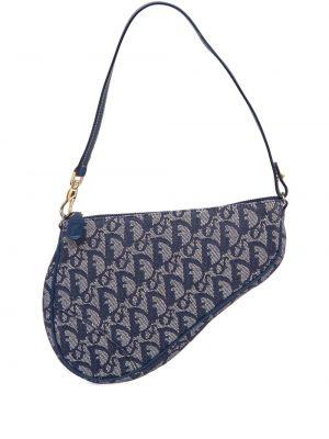 Niebieska torebka mini skórzana Christian Dior