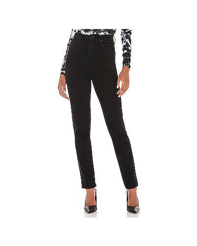 Хлопковые черные прямые джинсы с карманами на молнии Slvrlake