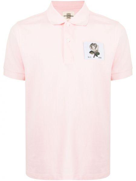 Różowa koszula bawełniana Kent & Curwen