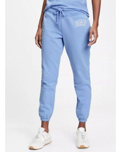 Флисовые спортивные брюки - голубые Gap