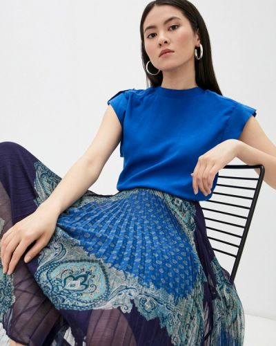 Синяя блузка без рукавов Twinset Milano