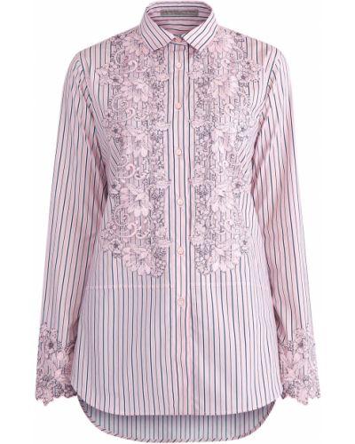 Блузка с вышивкой на пуговицах Ermanno Scervino