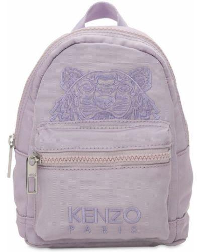 Фиолетовый рюкзак с вышивкой с карманами Kenzo