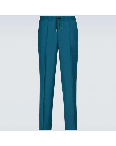 Zielone włoskie spodnie Berluti