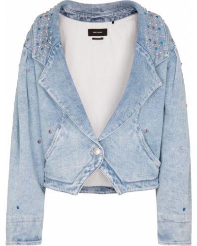 Ватная синяя джинсовая куртка с камнями Isabel Marant