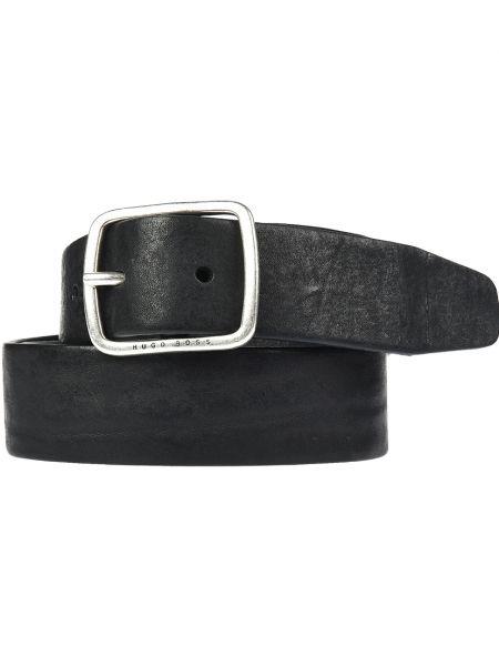 Кожаный ремень - черный Hugo Boss