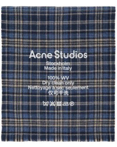 Шерстяной белый шарф прямоугольный Acne Studios