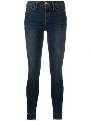 Синие хлопковые облегающие джинсы-скинни Frame