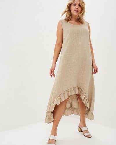 Повседневное платье весеннее бежевое Sophia