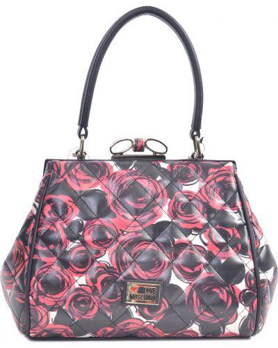 Кожаный сумка черный Love Moschino