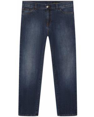 Мягкие хлопковые синие джинсы Dolce & Gabbana