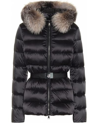 Куртка черная с опушкой Moncler