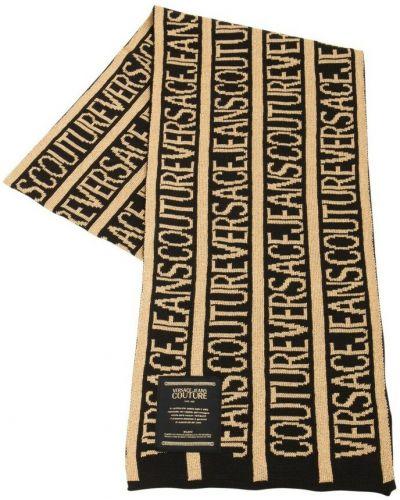 Złoty szalik - czarny Versace Jeans Couture