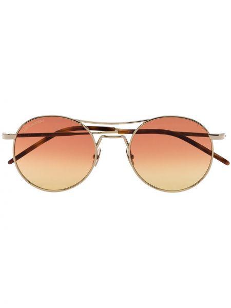 Złote różowe okulary Saint Laurent Eyewear