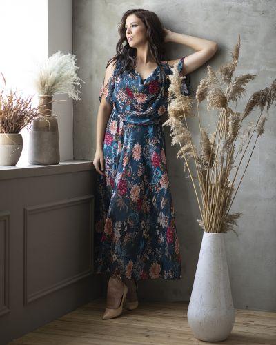Шифоновое платье макси прима линия