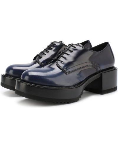Синие кожаные ботинки Premiata