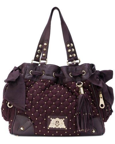 Кожаный сумка сумка-хобо стеганая Juicy Couture