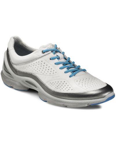 Кожаные кроссовки текстильные белый Ecco