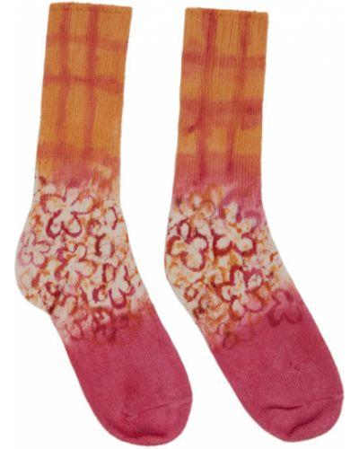 Bawełna różowy wysoki skarpety z mankietami rozciągać Collina Strada
