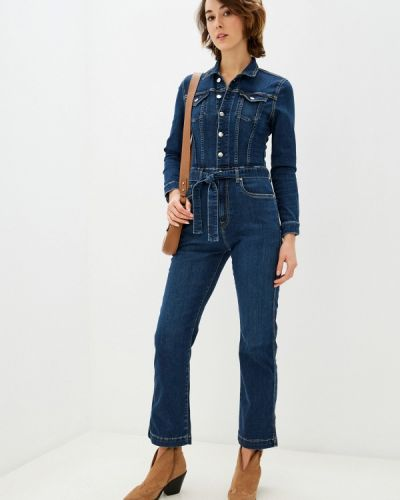 Синий джинсовый комбинезон Pepe Jeans