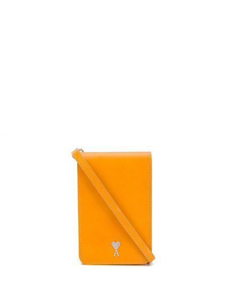 Кожаная сумка - желтая Ami Paris