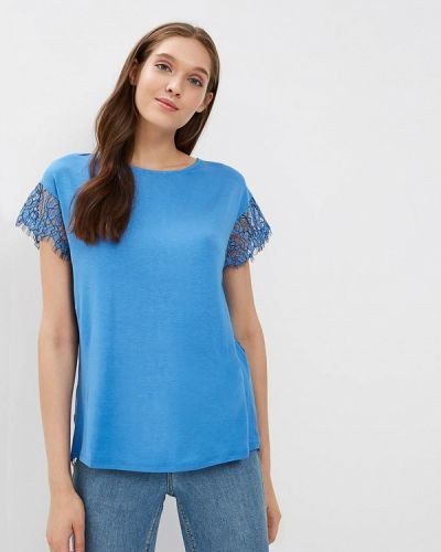 Блузка кружевная синяя United Colors Of Benetton