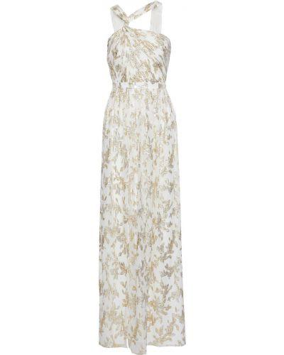 Biała sukienka z szyfonu Rachel Zoe