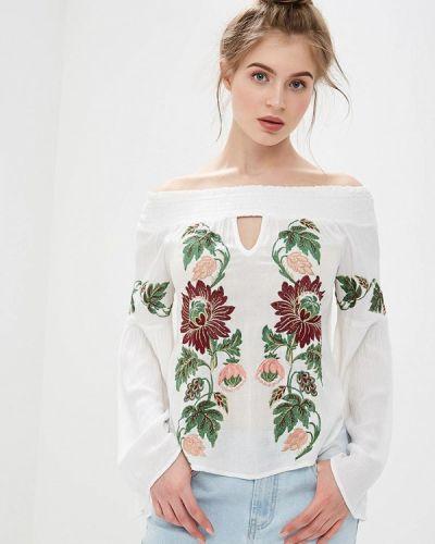 Блузка с открытыми плечами белый Glamorous