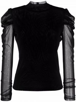 Черная блузка длинная Dvf Diane Von Furstenberg
