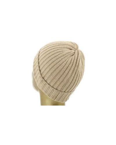 Бежевая шапка кашемировая Fedeli