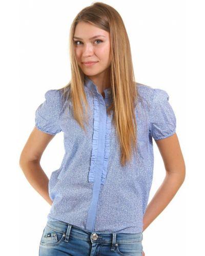 Голубая блузка хлопковая Gas