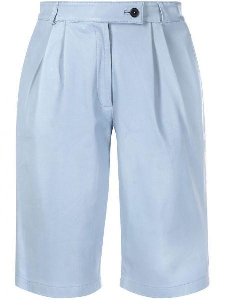 С завышенной талией кожаные шорты с карманами L'autre Chose