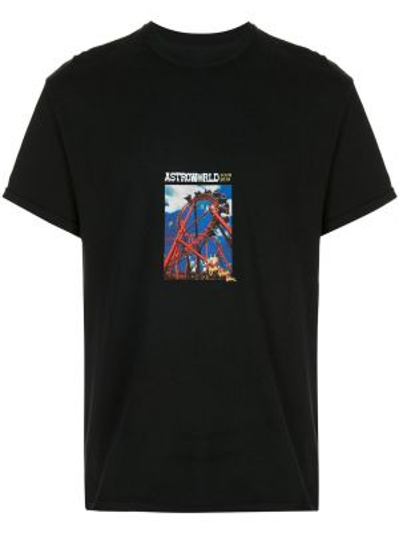Czarny t-shirt bawełniany oversize Travis Scott Astroworld