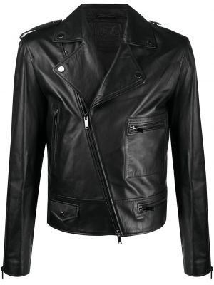 Черная куртка на молнии с карманами байкерская Desa 1972