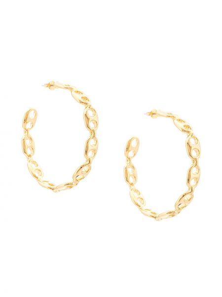 Серые серьги-гвоздики металлические Lizzie Fortunato Jewels