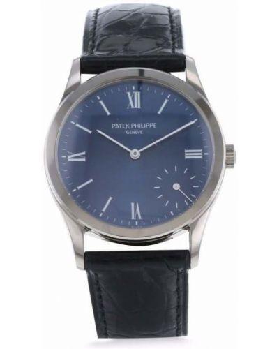 Белые кожаные часы Patek Philippe