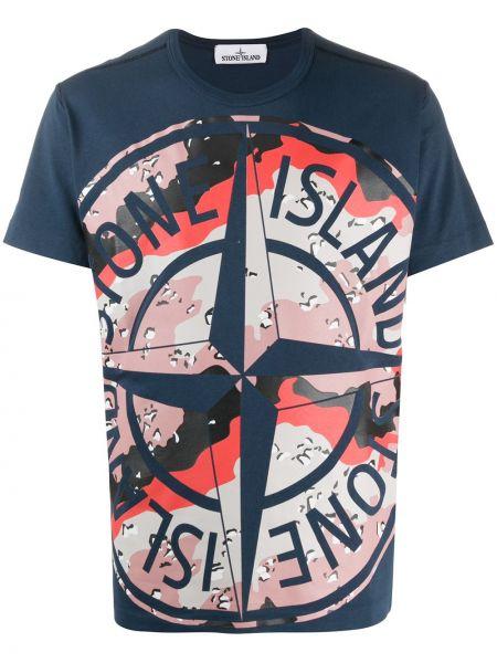 Koszula krótkie z krótkim rękawem z logo z nadrukiem Stone Island